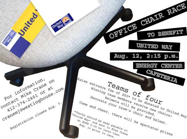 Chair race flyer