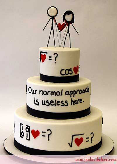XKCD web comic wedding cake
